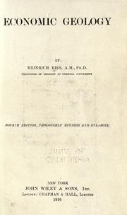 Economic geology by Ries, Heinrich