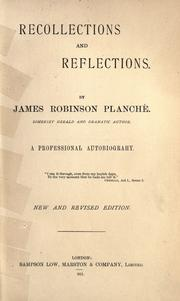 Cover of: Recollections and reflections