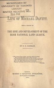 The life of Michael Davitt by D. B. Cashman