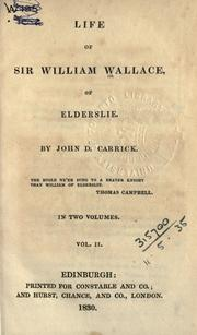 Cover of: Life of Sir William Wallace of Elderslie