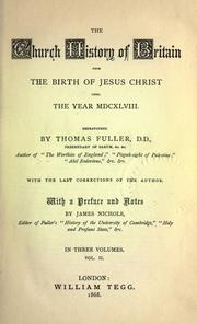 The church-history of Britain by Thomas Fuller