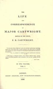 Cover of: The life and correspondence of Major Cartwright