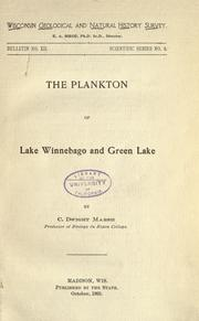 Cover of: The Planton of Lake Winnebago and Green Lake
