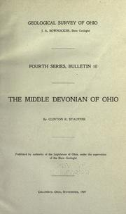 Cover of: The Middle Devonian of Ohio
