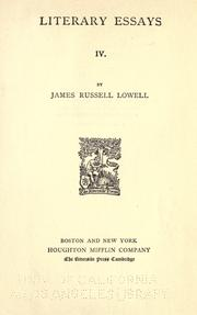Cover of: The writings of James Russell Lowell