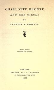 Cover of: Charlotte Brontë and her circle