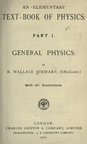 Cover of: An elementary text-book of physics