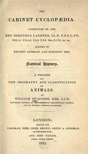 Cover of: A treatise on the geography and classification of animals