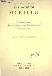 Cover of: The work of Murillo