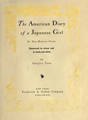 Cover of: The American diary of a Japanese girl | Yoné Noguchi
