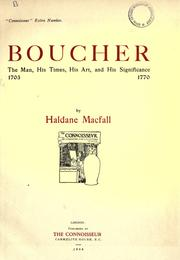 Cover of: Boucher