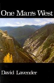 Cover of: One man's West