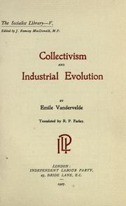 Cover of: Collectivism and industrial evolution | Emile Vandervelde