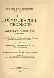Cover of: The Cosmographiae introductio of Martin Waldseemüller in facsimile