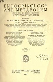Cover of: Endocrinology and metabolism