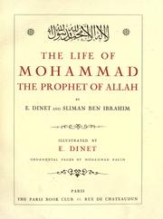 Cover of: The life of Mohammad the prophet of Allah