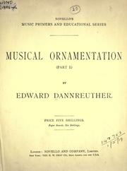 Musical ornamentation by Edward Dannreuther