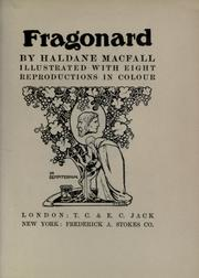 Cover of: Fragonard | Haldane Macfall