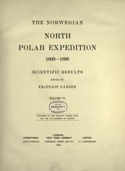 "Cover of: The Norwegian North polar expedition, 1893-1896 | ""Fram"" Expedition."
