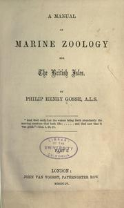 Cover of: A manual of marine zoology for the British Isles