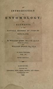 Cover of: An introduction to entomology by William Kirby