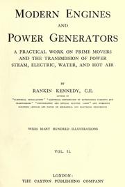 Cover of: Modern engines and power generators