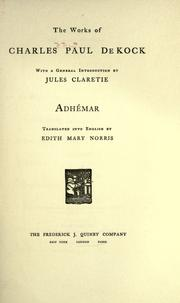 Cover of: Adhémar