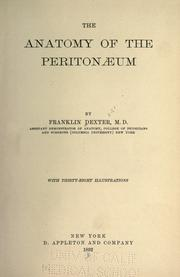 Cover of: The anatomy of the peritonæum