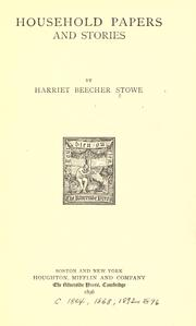 Cover of: Household papers and stories