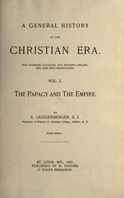Cover of: A general history of the Christian era by Guggenberger, Anthony S. J.