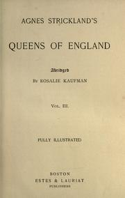 Cover of: Agnes Strickland's Queens of England