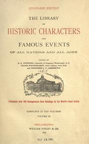 Cover of: The library of historic characters and famous events of all nations and all ages
