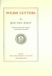 Cover of: Polish letters