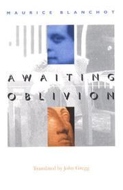 Cover of: Awaiting Oblivion (French Modernist Library)