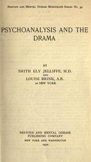 Cover of: Psychoanalysis and the drama