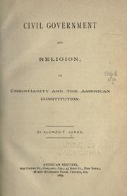Cover of: Civil government and religion