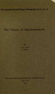 Cover of: The theory of psychoanalysis