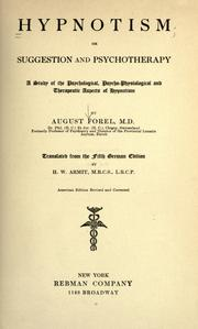 Cover of: Hypnotism; or, Suggestion and psychotherapy