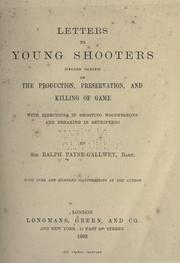 Cover of: Letters to young shooters