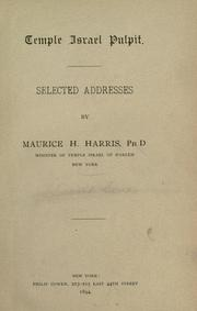 Cover of: Selected addresses