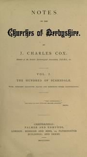 Cover of: Notes on the churches of Derbyshire. by J. Charles Cox