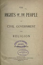 Cover of: The rights of the people