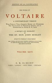 Cover of: The works of Voltaire