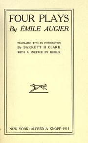 Cover of: Four plays