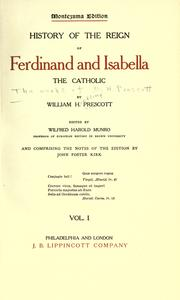 Cover of: The works of William H. Prescott..
