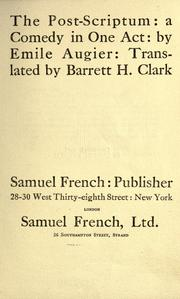 Cover of: The post-script