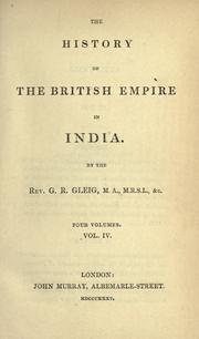 Cover of: The history of the British Empire in India