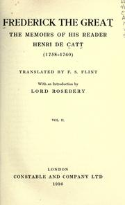Cover of: Frederick the Great | Catt, Henri de