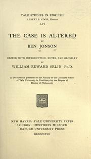 Cover of: case is altered | Ben Jonson