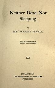 Cover of: Neither dead nor sleeping